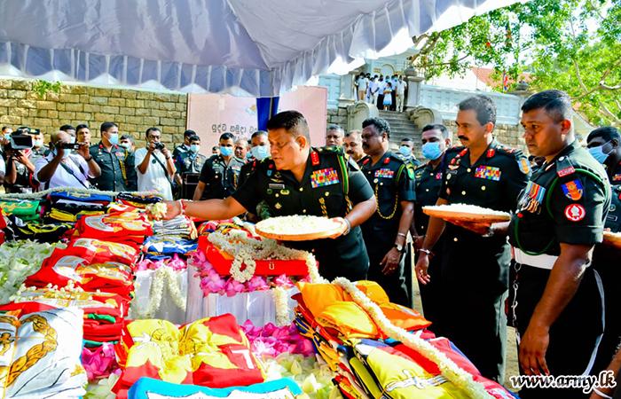 'Jaya Sri Maha Bodhi' Blessings Invoked Symbolically on Army Flags at Anuradhapura
