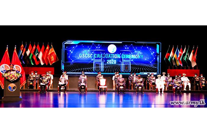 DSCSC Awards Psc Degree in Glittering Graduation Ceremony at Nelum Pokuna