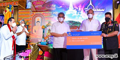 HE the President & Hon Premier Launch 'Deegavapiya' Restoration Fund-raising Drive