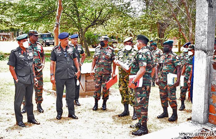 Wanni Commander Inspects Construction Progress at Battalion Training School