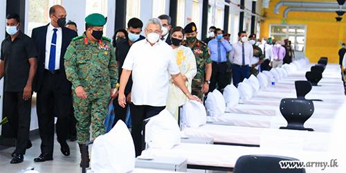 Army Seva Vanitha-Improvised Biggest Emergency Facility for COVID-19 Infectees Ready