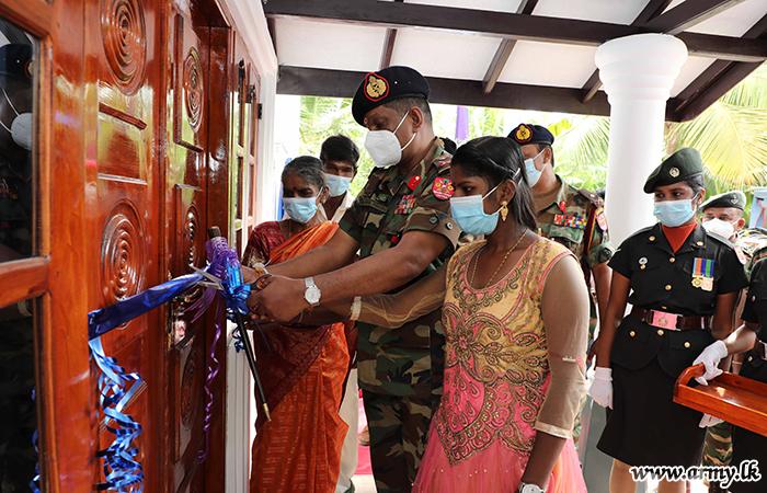 Chulipuram Civilian Gets Army-built New House with NHDA Funds