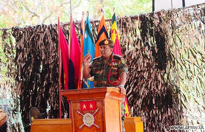 East Commander Makes Formal Troop Addresses