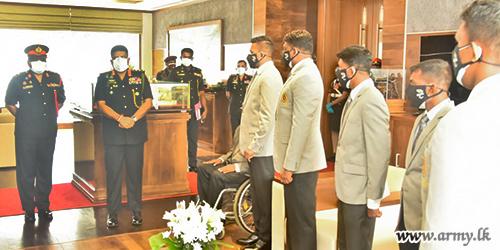 இராணுவ சார்ஜன்ட் தினேஷ் பிரியந்த ஹேரத் தலைமையிலான இலங்கையின் பரா ஒலிம்பிக் குழுவிற்கு தளபதியின் வாழ்த்துக்கள்