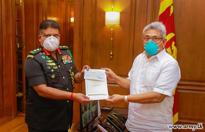 Jaffna 'Thiyahie' Charitable Trust Chairman Donates Rs 10 m to 'Itukama' Fund thru Army Chief