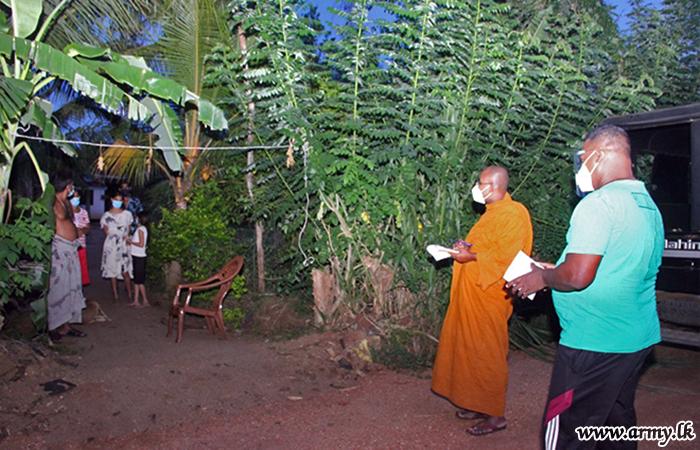 தனிமைப்படுத்தப்பட்டவர்களுக்கு உலர் உணவு பொதிகள் விநியோகம்