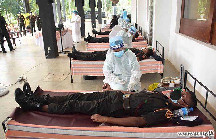 VIR Troops Volunteer to Replenish Blood Stocks for Thalassemia Patients in Kurunegala District