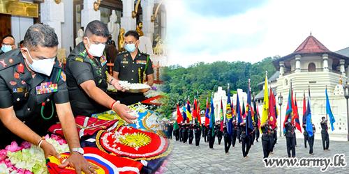 The Sri Lanka Army Inaugurates its 72nd Anniversary Commemorative Ceremonies at Dalada Maligawa