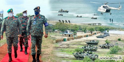 Kumpurupiddi Beach Head Turns to Mini Battlefield During Final Phase of Mock Enemy Attack