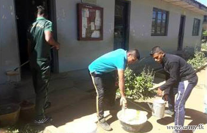3 SLSR Troops Renovate School Buildings in Nuwara Eliya