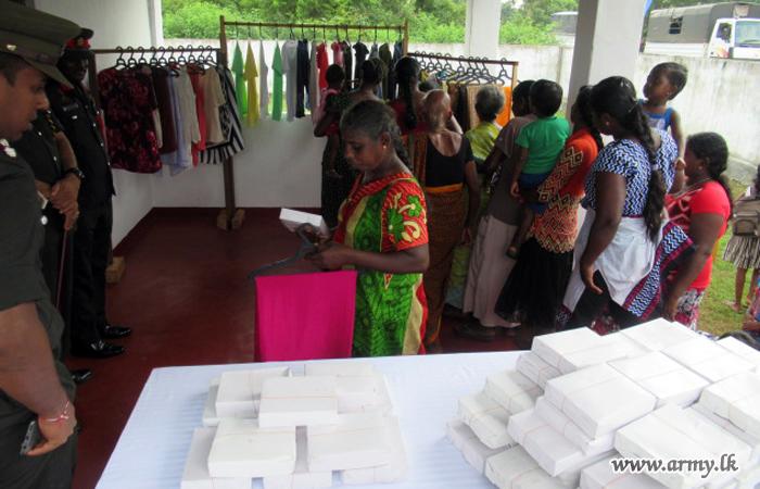 Garments Distributed Among Kirisuddan Families