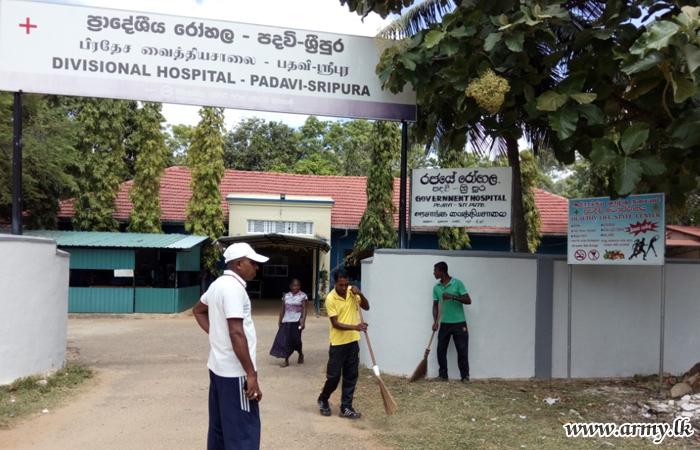 62 Division Troops Conduct 'Sharamadana' Programme at Sripura Hospital
