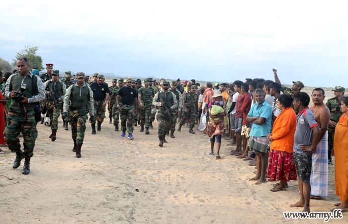Commander Meets 'Paada Yathra' Pilgrims in Yala
