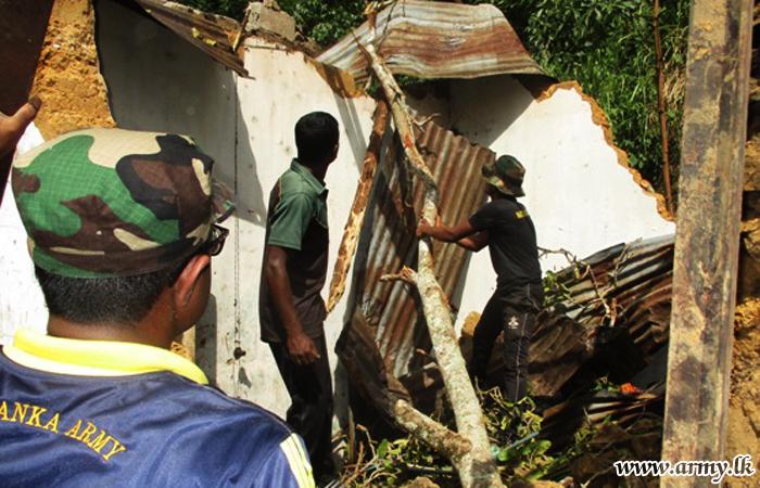 Troops Assist Wattegama Villagers Affected by Fallen Trees