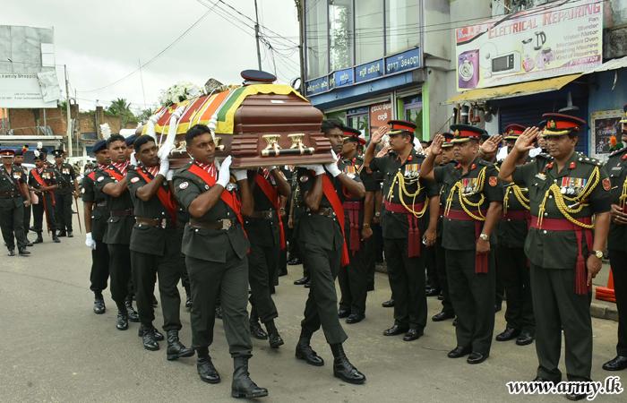 Military Ceremonials Bid Farewell to Late Brigadier A.E.R Abeyasingha