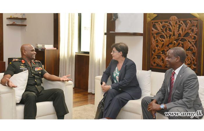 Army Chief Briefs ICRC Head on Post-War Progress