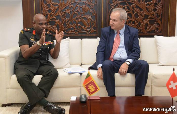 Swiss Ambassador Pays Courtesy Call on Commander