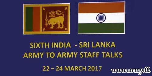 Army-to-Army Staff Talks (AAST) Between India & Sri Lanka Begin