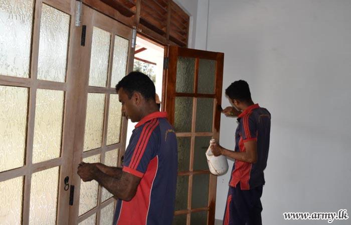 அரந்தலாவில் யாத்திரைகளுக்கான தங்குமிட மண்டபம் 24 ஆவதுபடைப் பிரவினால் நிர்மானிப்பு