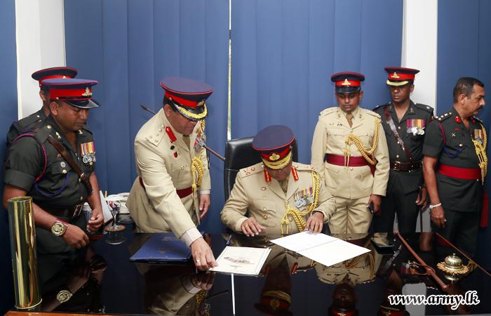 Major General Rukmal Dias, New SLA Colonel Commandant Assumes Office