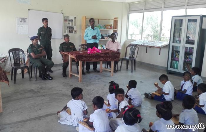 66 Div Troops Distribute School Accessories