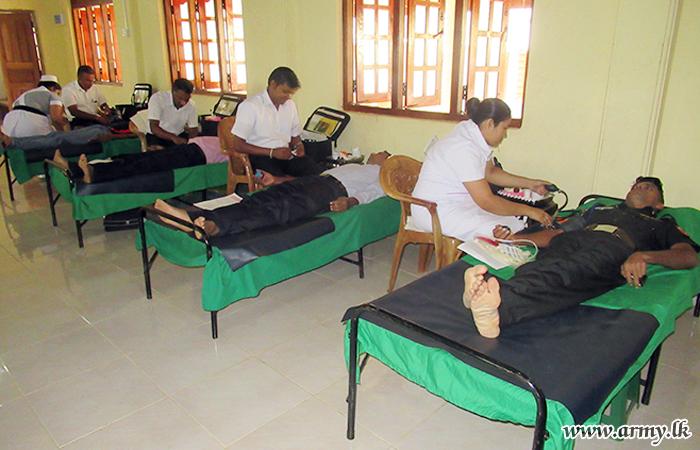 Troops Give Blood in Kebillewela