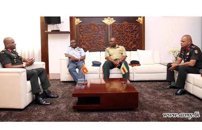NDU Team from Zimbabwe Enjoys Courtesy Meeting with Commander