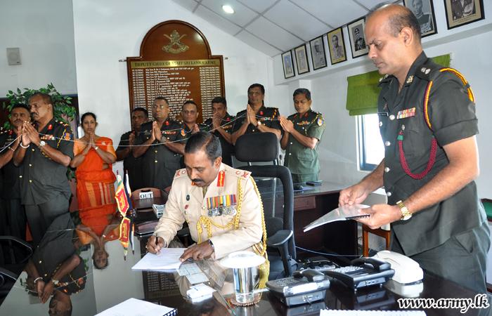Major General Renaka V. Udawatte, New DCOS Assumes Office