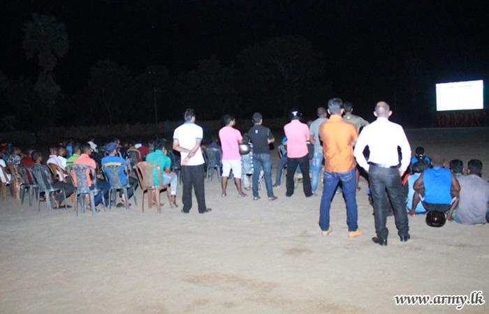 Kilinochchi Civilians & Troops Watch World Cup on LED Screen