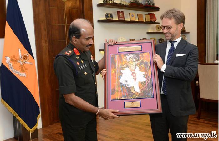 French Ambassador & Visiting Sailors Greet Commander