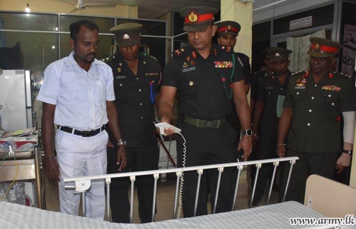 Army Officer Gifts Emergency Ward Beds to Pudukudirippu Hospital