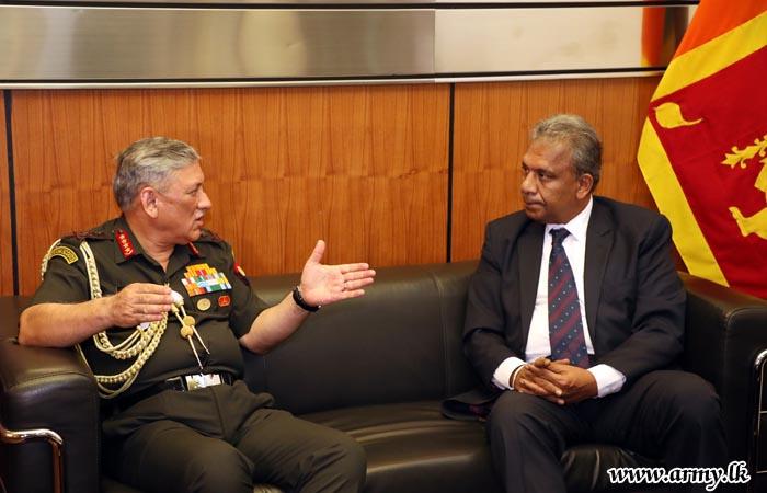 General Bipin Rawat Calls on Secretary Defence