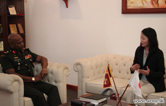 Japanese Envoy Calls at Jaffna Commander