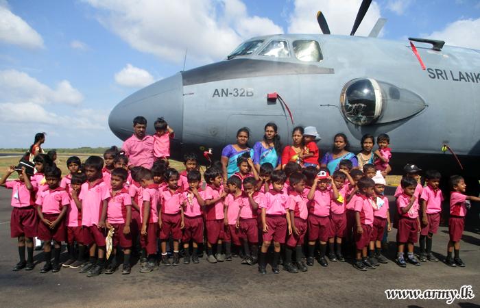 Many More Jaffna Pre School Kids Visit Palali Airport
