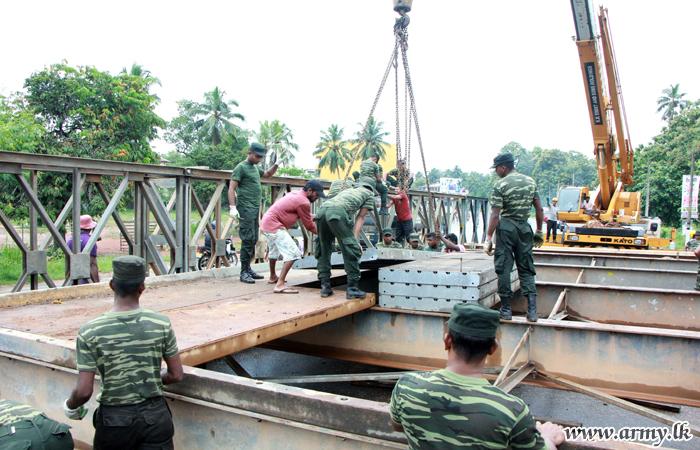 Update: 14 Division Troops on Kaduwela Bridge Emergency Repairs