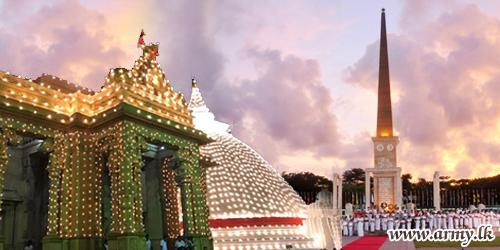 Historic 'Aaloka Pooja' at Kelaniya Sets to Kindle 28,619 Lamps for Commemoration of Fallen War Heroes