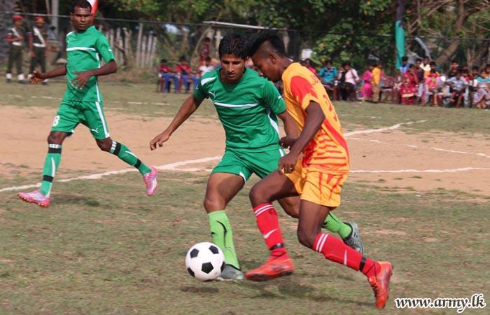 Civil Sports Club Plays with Kilinochchi SF Hqrs Football Team