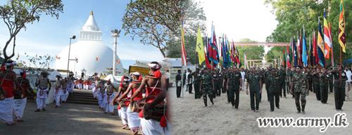 Army Flags Flutter in Kirivehera & Kataragama Sacred Precincts