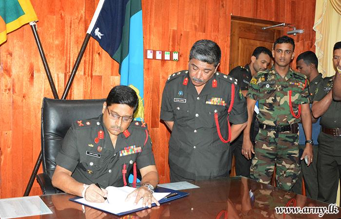 Major General J.R Kulatunga Assumes Office as Commander Security Force - Wanni