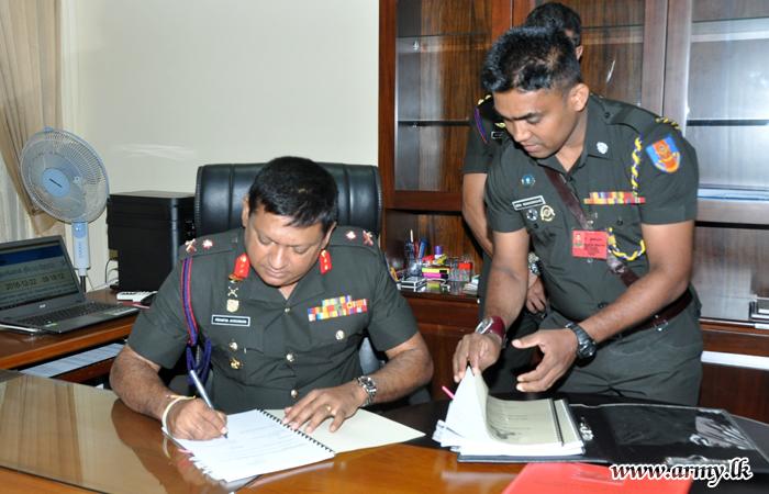 New Military Secretary Assumes Office
