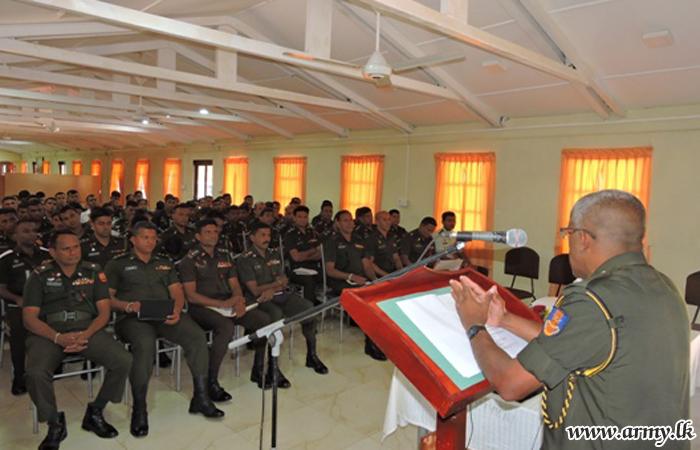 Army Troops Educate on Standing Orders