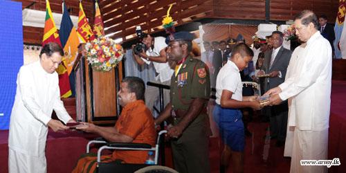 'Sathviru Urumaya' Credentials Pay Tribute to Disabled War Heroes