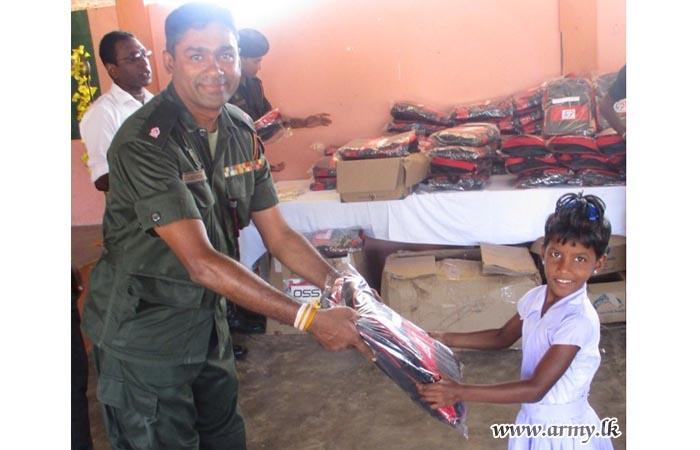 661 Brigade's Initiative Gives Away School Accessories to Pooneryn Children