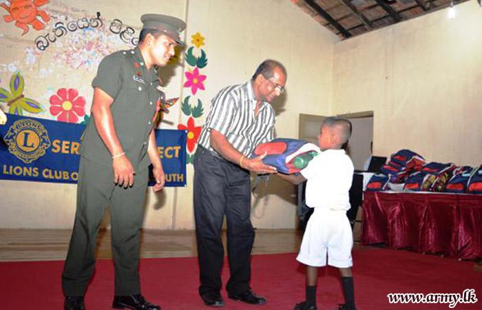 Students Get School Accessories Thru Army Coordination