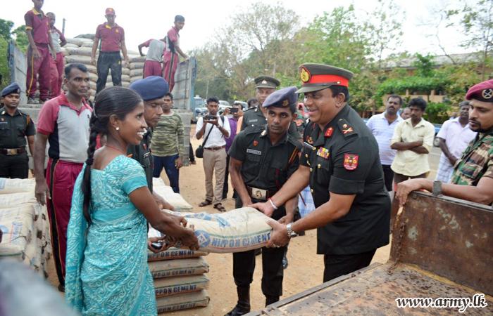 SFHQ-Jaffna Initiates Free Distribution of Cement for 34 Kovil Repairs
