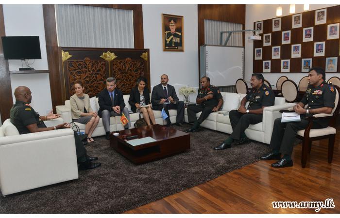UNDPKO Team Pays Courtesy Call on Army Commander
