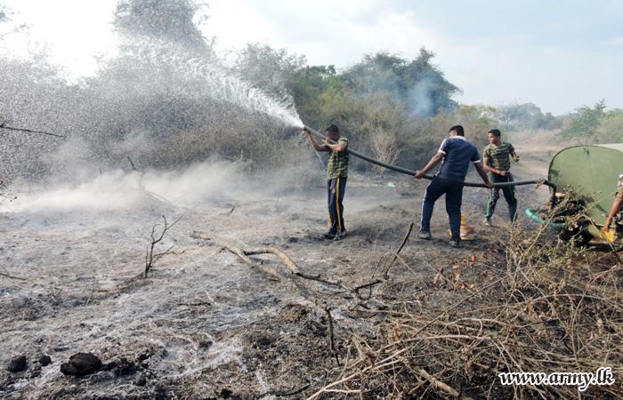 Soldiers Extinguish Raging Thadduwan Wildfire