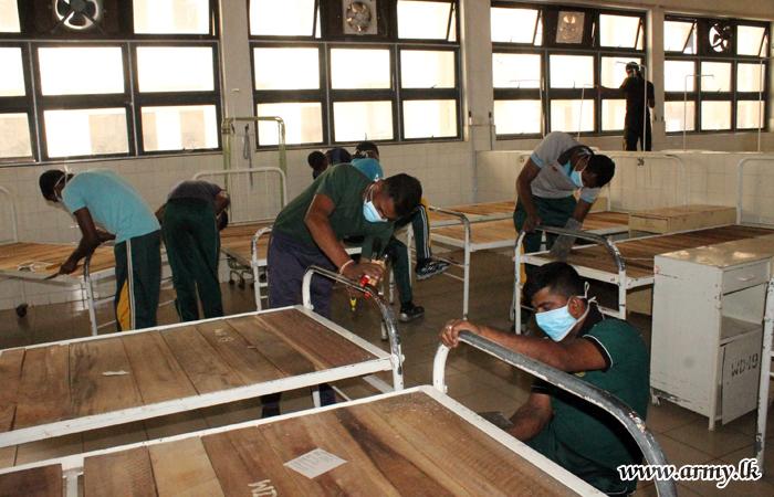 11 Div Troops Clean Peradeniya Hospital to Mark Army Anniversary