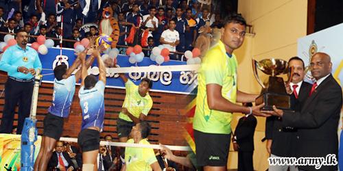 இராணுவ படையணிகளுக்கு  இடையில் இடம்பெற்ற கரப்பந்தாட்ட போட்டிகள்