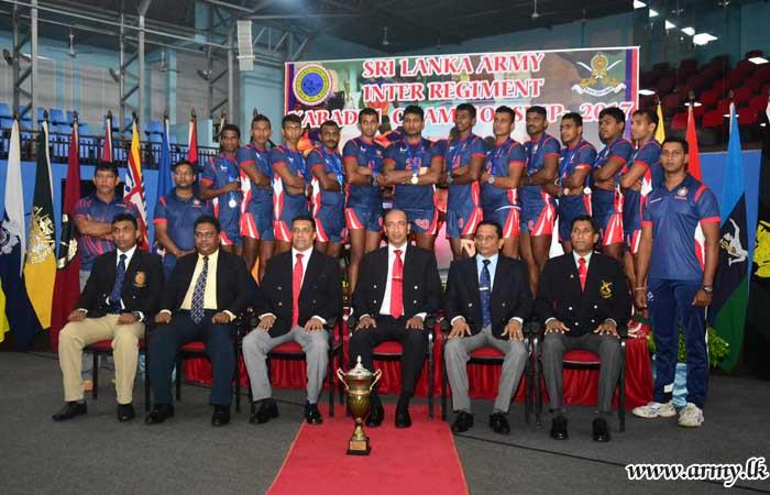 Army Inter Regiment Kabaddi Championship Goes to SLAGSC